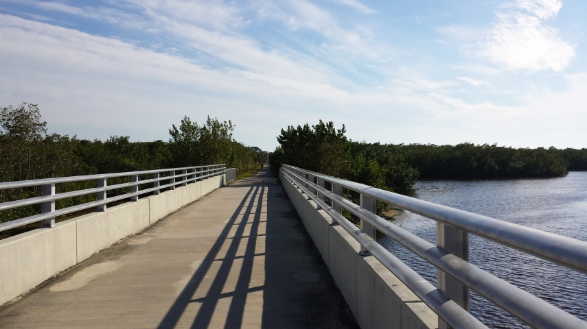 Pioneer Bike Trail over Coral Creek Bridge