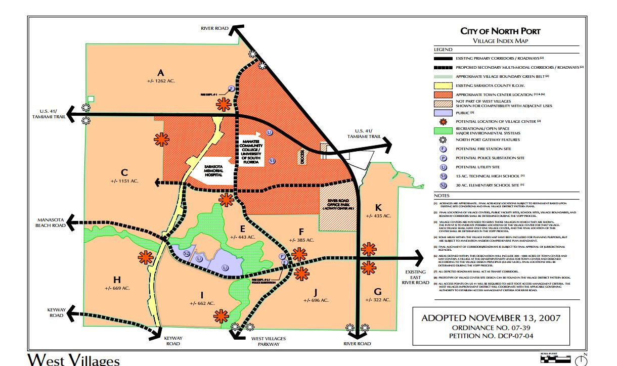 West_Villages_Map
